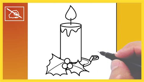 imagenes de navidad para dibujar faciles y a color c 243 mo dibujar una vela de navidad drawing a christmas