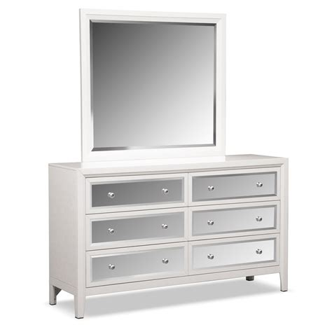 Bonita Dresser And Mirror White Value City Furniture White Bedroom Dresser With Mirror