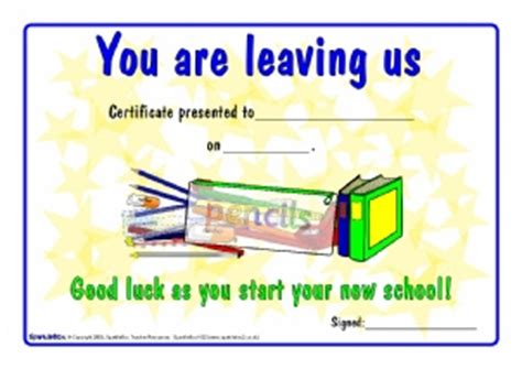 Printable School End Of Year Leavers Certificates For