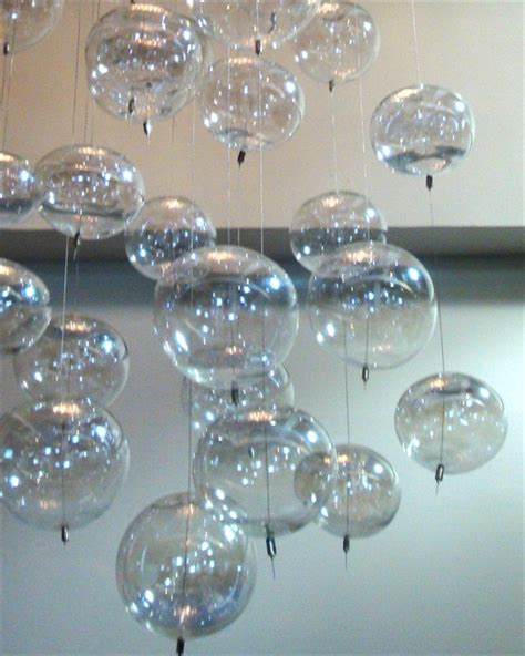 glass bubbles chandelier blown glass pendant chandelier artisan crafted