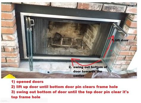 fireplace doors how to remove and fireplaces on