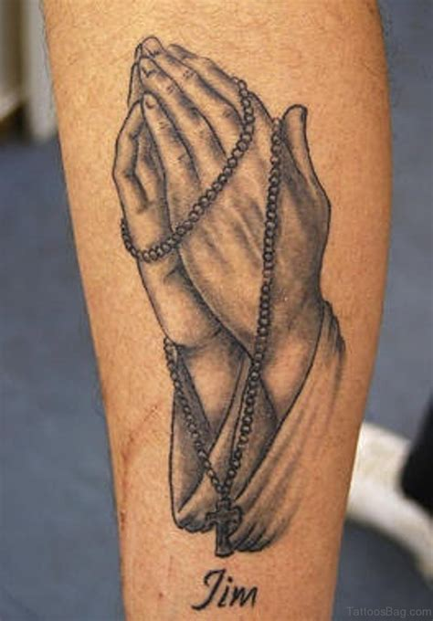 praying hands with rosary tattoo designs 52 great rosary tattoos on arm