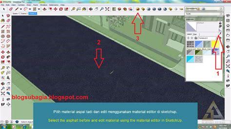 cara membuat video animasi di google sketchup cara mudah membuat jalan aspal basah di google sketchup