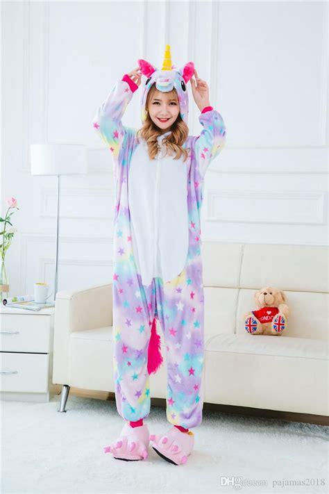 Pajamas Unicorn by Rainbow Unicorn Onesie Animal Pajamas Unsix One