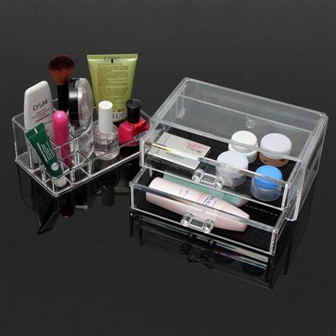Acrylic Table Organiser 2 drawer clear acrylic cosmetic organizer storage