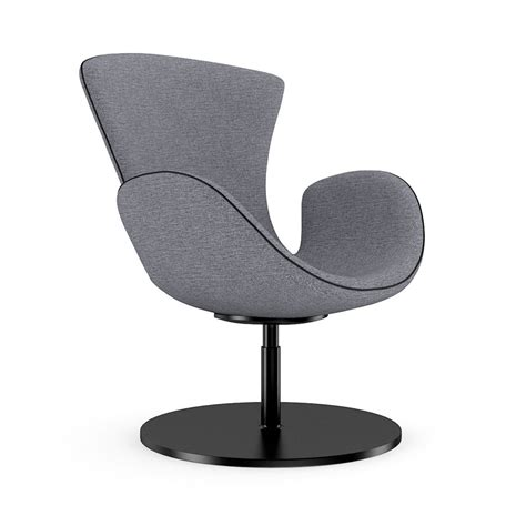 grey swivel armchair 3d model max obj fbx c4d