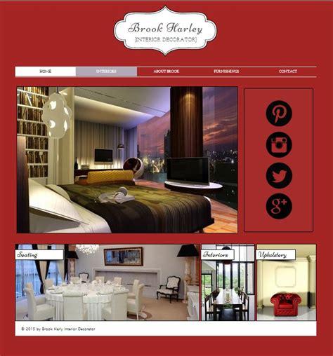 interior design portfolio websites interior designer website portfolio web landing pages