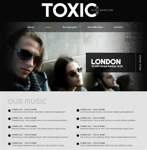 Music Band Website Templates That Will Rock You Band Website Templates