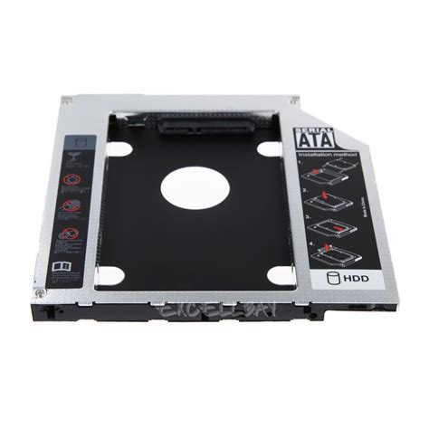 Hdd Caddy 2nd Hdd Caddy Universal 127mm Kode Ss3265 pro 2 5 quot sata 2nd ssd hdd caddy bay drive for 9 5mm universal apple macbook ebay