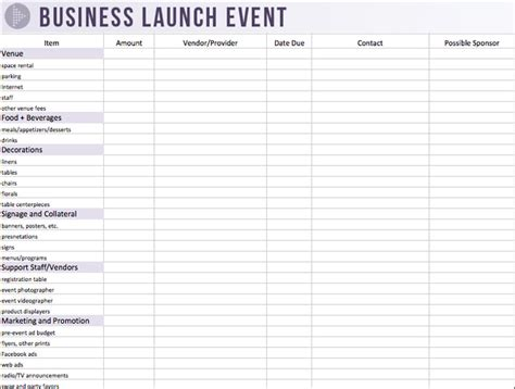 event planning spreadsheet template printables event planning worksheet template