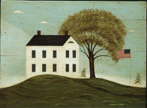 painting of houses home warren kimble