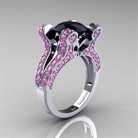 vintage 14k white gold 3 0 ct black light