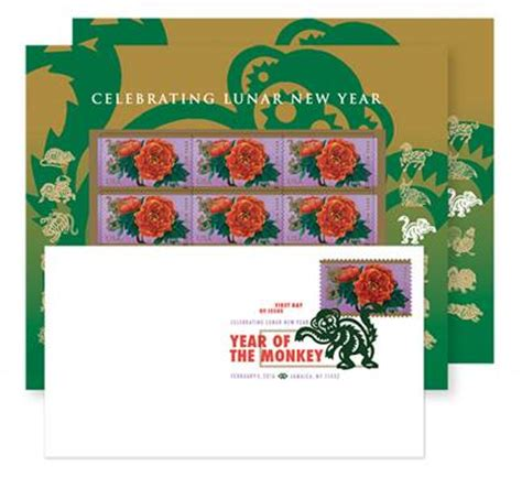 usps new year sts monkey usps rang in lunar new year by issuing year of the monkey