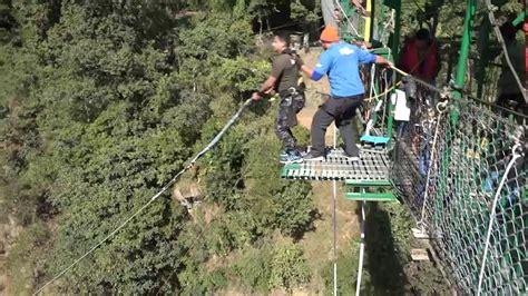 canyon swing nepal rahul canyon swing the last resort nepal youtube