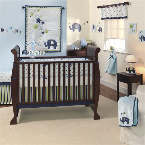 Baby Boy Bed Set Baby Bedding Cot Set Design Green Meadow 5 Pieces Bed Mattress Sale