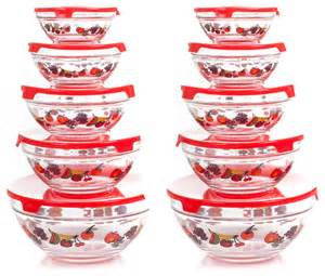 Decorative Vases With Lids Chef Buddy 20 Piece Glass Bowl Set With Lids