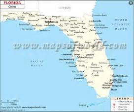 florida map showing cities and towns florida showing cities us states 5 most populous