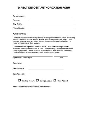 Ach Direct Deposit Ach Form Template