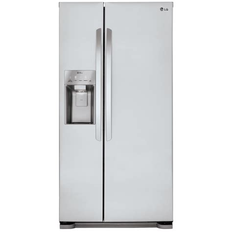 Dispenser Lg lg lsxs22423s 22 1 cu ft side by side refrigerator with