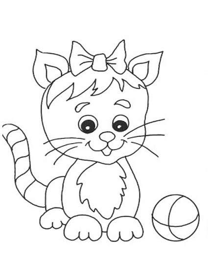 Mewarnai Gambar Kucing Lucu - Mewarnai Gambar