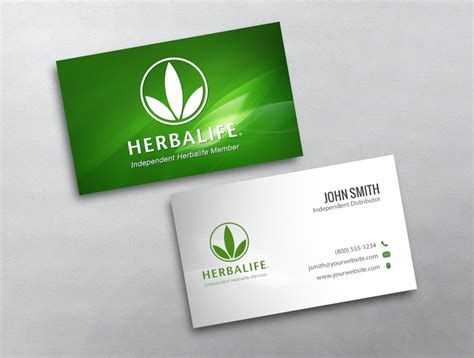 herbalife business card template herbalife business card 01