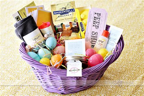 adult easter basket ideas intimate easter basket