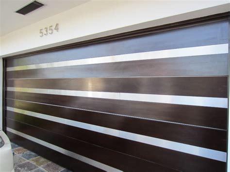 garage doors stainless steel modern