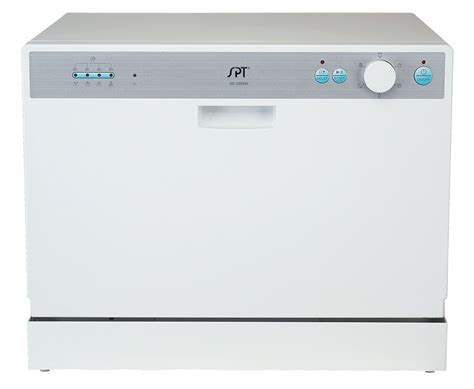 spt sd 2202w countertop dishwasher with delay start white