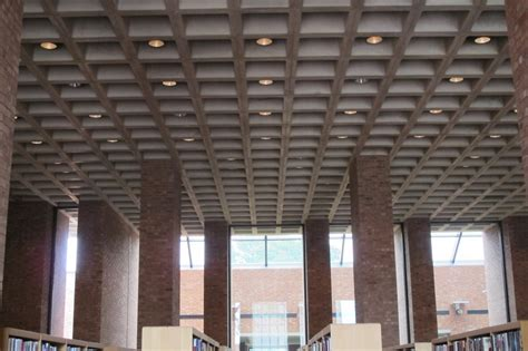 Concrete Coffered Ceiling Week 33 Cleo Rogers Memorial Library 52 Weeks Of
