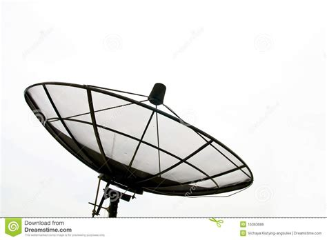 big satellite big black satellite dish royalty free stock image image 15363686