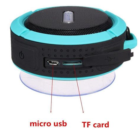 Speaker Bluetooth Sd 100 mini bluetooth speaker c6 portable waterpro wireless stereo speakers support sd cards bluetooth