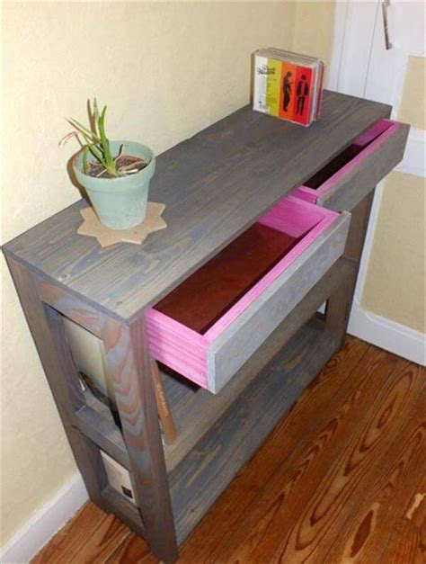pallet entryway table  pallets