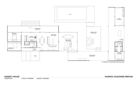 kaufmann desert house floor plan gallery of desert house marmol radziner 25