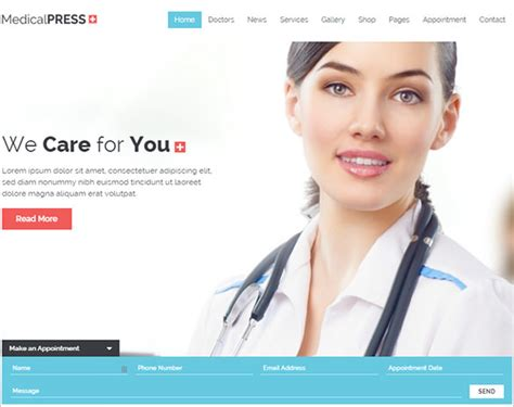 19 Doctor Website Themes Templates Free Premium Templates Doctor Website Template Free