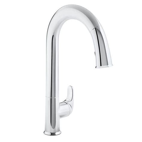 Kitchen Faucets Touchless Kohler Sensate Ac Powered Touchless Kitchen Faucet In Polished Chrome With Docknetik And Sweep