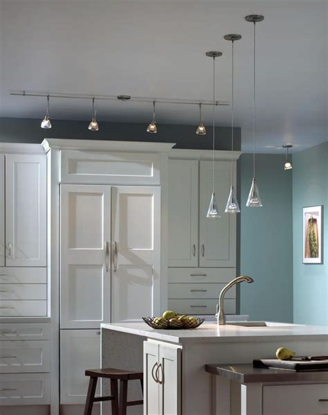 monorail lighting kitchen modern white kitchen with pendant and monorail lights