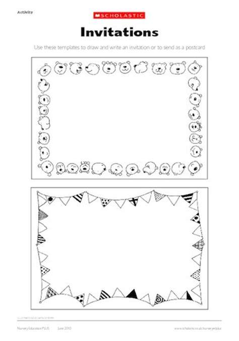 postcard invitations templates invitation and postcard templates early years teaching
