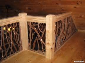stair railing and balcony handrail artistic branch wood
