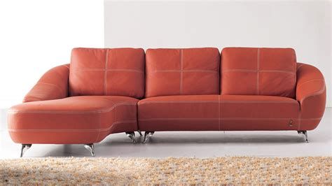 Orange Sectional Sofa Leather Orange Sofa Home Lusso Papaya Leather Sofa Sofas Orange Thesofa