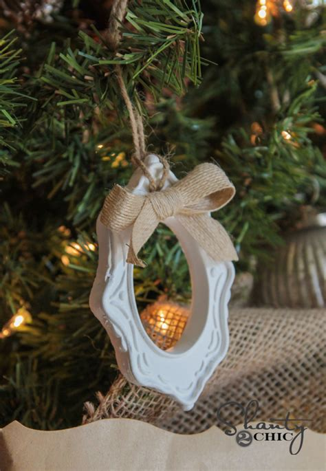 diy picture frame ornaments diy 1 frame ornaments shanty 2 chic