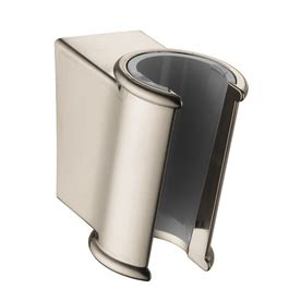 shop hansgrohe accessories brushed nickel brass toothbrush shop hansgrohe brushed nickel hand shower holder at lowes com