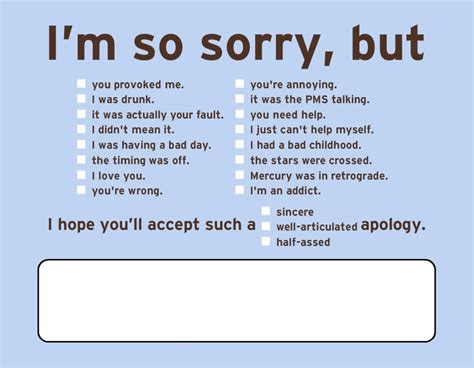 Apology Ecards no bs e cards 5 total my modern met
