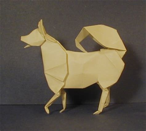 Origami Husky - husky origami sculptures the unofficial montroll
