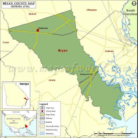 bryan county map map  bryan county georgia