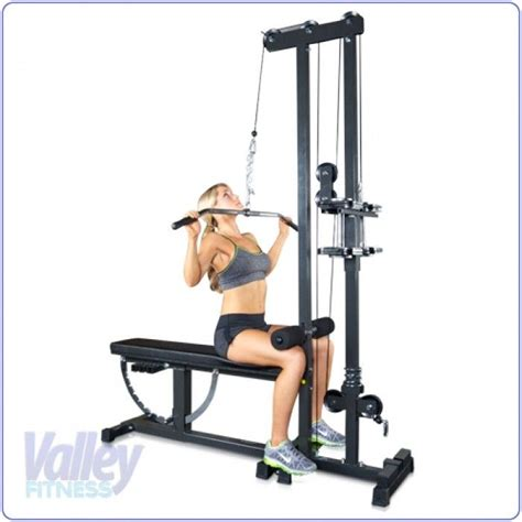 workout bench with lat pulldown lat pulldown super bench and combos pinterest