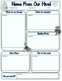 Blank Newsletter Templates For Teachers by Blank Newsletter Templates For Teachers Calendar