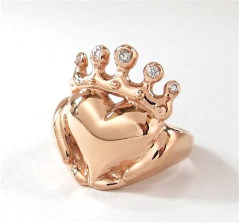 Handmade Gold Jewellery - solid gold or platinum claddagh ring handmade