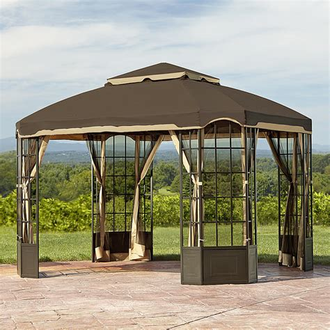 gazebo outlet garden oasis l gz120pst 2d bay window gazebo sears outlet