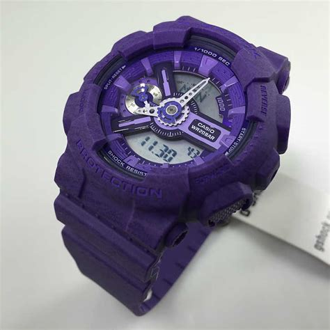 s casio g shock digital analog purple gmas110ht 6a