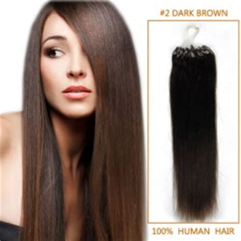 16 inch 2 brown micro 18 inch 8 ash brown micro loop human hair extensions 100s